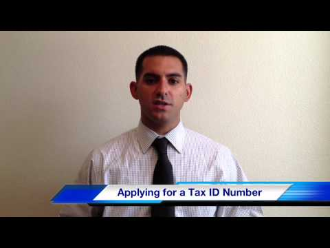 Applying for a Tax ID Number