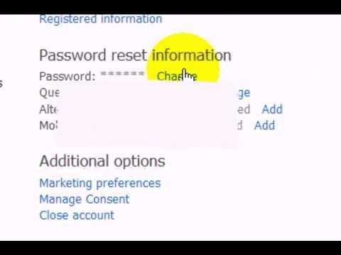 Tutorial : Change Password of MSN