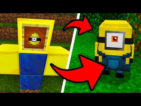 How To Spawn MINIONS In Minecraft Pocket Edition! (Despicable Me 3 Addon)