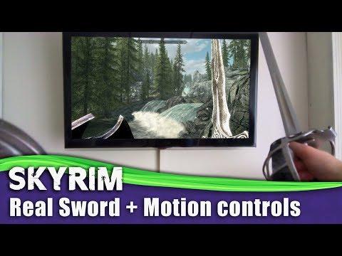 Skyrim Motion controls (REAL SWORD) Nintendo Switch Gameplay