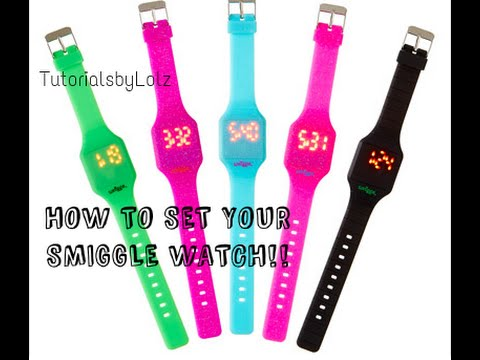 How to set the Date and Time on the NEW SMIGGLE WATCH!