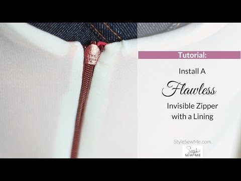 Install a Flawless Invisible Zipper with a Lining