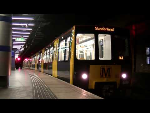 Tyne and Wear Metro-Metrocars 4059 and 4033 terminating at Sunderland