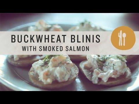 Buckwheat Blinis with Smoked Salmon - Superfoods