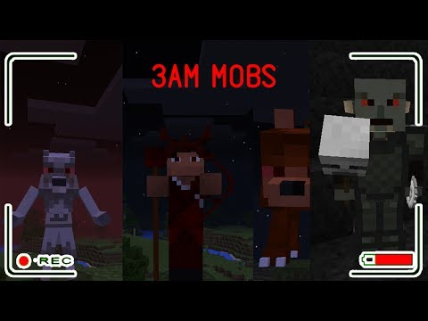 THIS MOBS ONLY APPEARS AT 3 AM IN MINECRAFT POCKET EDITION