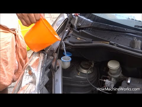 How to fill windscreen wash concentrate in your car.