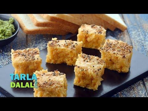 Bread Dhokla, Instant Bread Dhokla by Tarla Dalal
