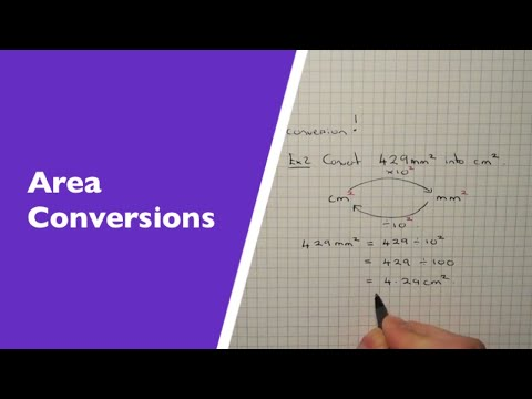 How To Convert Between Metric Units Of Area (metres squared and centimetres squared conversion)