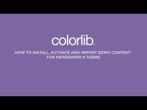 How to Install & Import Demo Content for Newspaper X Theme