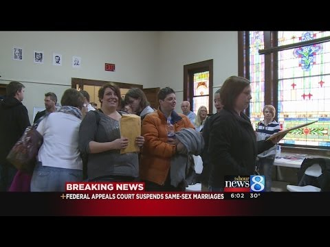 Same-Sex marriages put on hold in Michigan