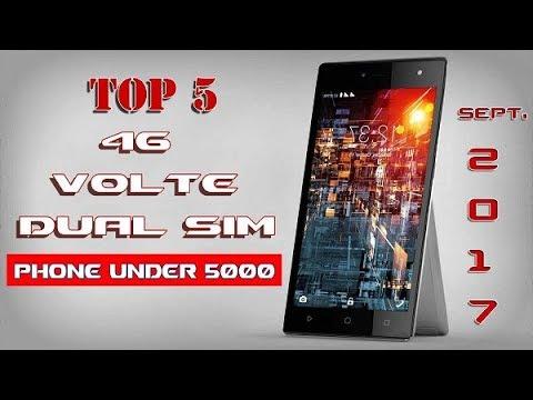 Best 4G Volte Dual Sim mobile phone under 5000(Hindi)[India Sept. 2017]