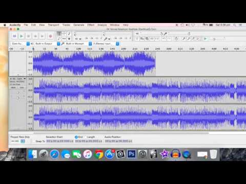 how to merge/combine two audio files using audacity