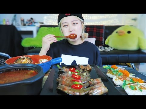 SOY SAUCE#3   [SHRIMP SUSHI ] cooking/mukbang