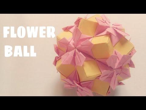 Origami Flower Ball - Kusudama Ball - Origami Easy