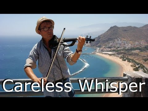 George Michael ♫ Careless Whisper -  (LIVE! violin cover on TENERIFE) by Arcadioo Violin PL skrzypek