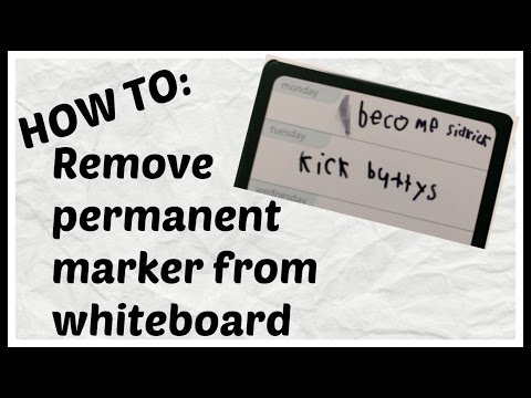 HOW TO Remove Permanent Marker from Dry Erase Board - EASY! | Whiteboard vs. Sharpie