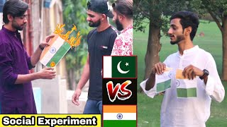INDIAN FLAG Vs PAKISTANI | flag dropping social experiment |Experiment in Pakistan | A.JAhsan