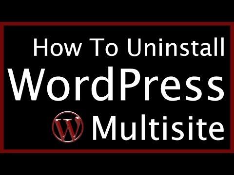 How to Uninstall WordPress Multisite 🕵 Advanced WordPress Website Tutorial