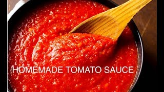 【Homemade Tomato sauce】家庭版自制番茄酱 -How to make Tomato Sauce from fresh tomatoes