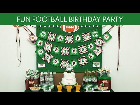 Fun Football Birthday Party Ideas // Fun Football - B117