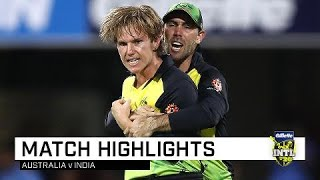 Australia draw first blood in T20 series   First Gillette T20