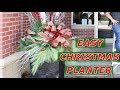 CHRISTMAS DIY / How To Decorate Your Porch/Patio Urns 2018  / Outdoor Christmas Decorations