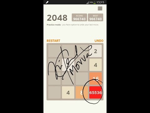 how to solve 2048 android and iphone game..