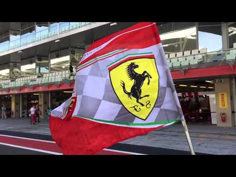 Ferrari flag in Slo-mo