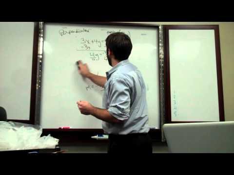 Equation of a Line   Perpendicular 002