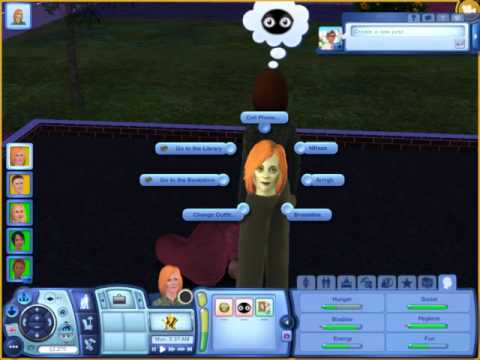 Sims 3 Supernatural Sim turning into a zombie