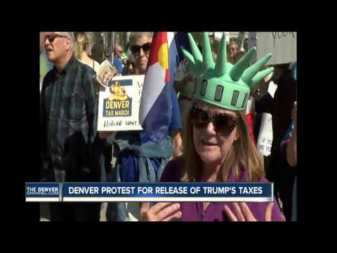 Denver joins Tax March for Trump to release his tax returns