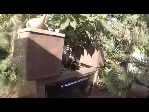 DIY How to build an outside fish tank with granite kitchen tops