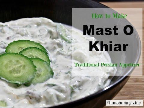 Mast O Khiar (Yogurt and Cucumber)- Persian Traditional Appetizer