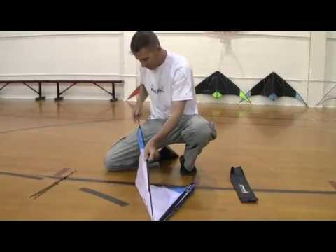 Indoor Dual 01 - Assembly & Set Up (stunt kite tutorial)