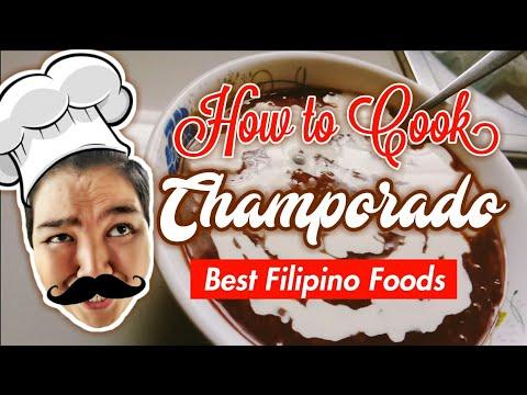 Filipino Food | Champorado - Tinkylicious Cooking Show (How to cook Champorado)