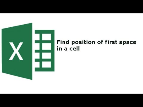 Find position of first space in a cell using Excel's Find Function