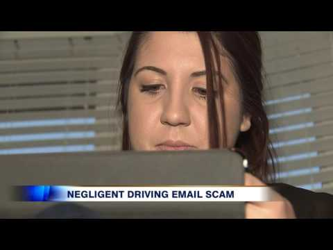 Video: Police warnings about fake email ticket scam