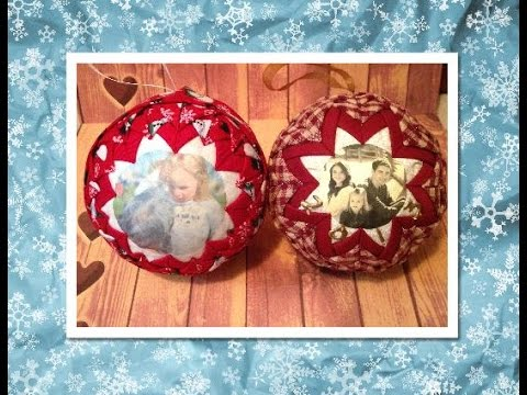 No Sew Quilted Picture Ornament (No Sew Ornament)
