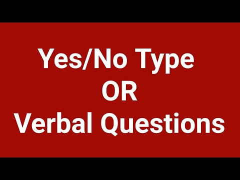 Yes/ No Type Questions by English Guru