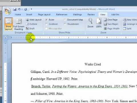 How to Format a MLA Works Cited Page.mp4