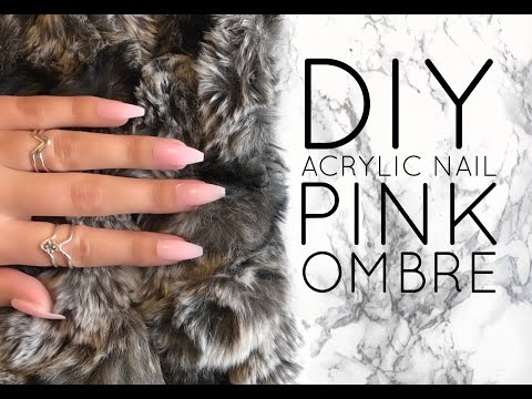DIY Acrylic Style Nail | Natural Pink Ombre