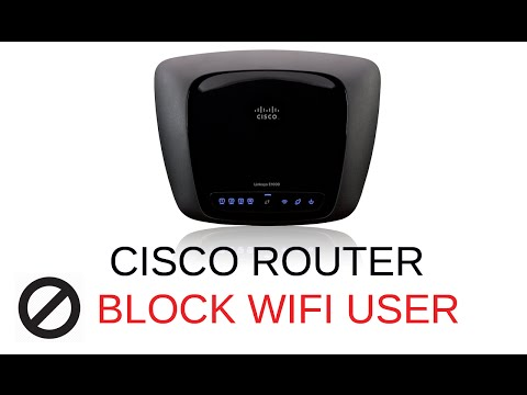 How to block Wifi user on Cisco Linksys Router
