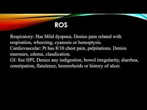 Chest pain Case Presentation