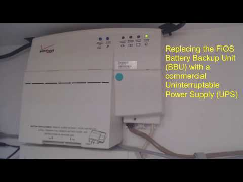 Replacing a Verizon FiOS Battery Backup Unit (BBU) with a UPS