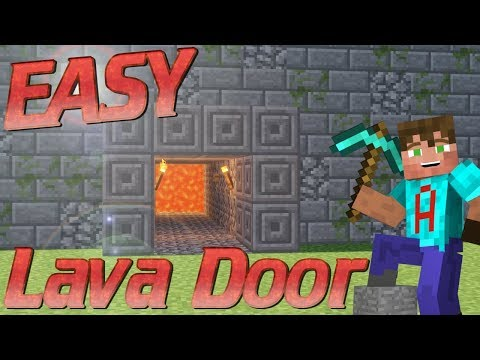 How to Make a Redstone Lava Door in Minecraft   A 2-Way Redstone Door   Minecraft Redstone Tutorial