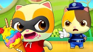 Johny Johny Yes Papa | Ice Cream | Police Cartoon | Kids Songs | Kids Videos | BabyBus