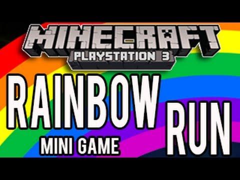 Minecraft Playstation - Rainbow Runner! (PS3/PS4 Minecraft Mini Game)
