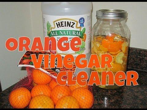 How to Make Non-Toxic Homemade Orange Vinegar Cleaner