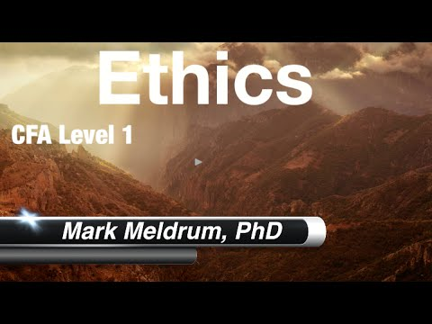 CFA Level 1 - Ethics -  Questions 1 to 5