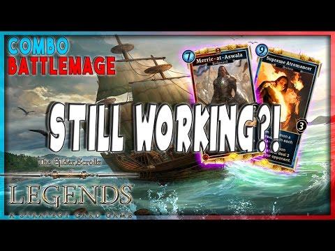 TES LEGENDS | STILL WORKING?! | MERRIC COMBO BATTLEMAGE DECK | The Elder Scrolls Legend Furo